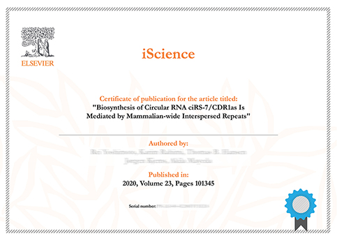 Publication recognition for published authors at Elsevier's Webshop